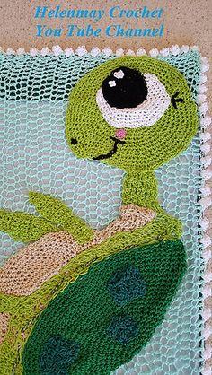 Free Crochet Turtle Rug or Blanket pattern by Helen Brady