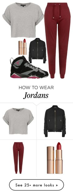 """""""red"""" by sneakerhead123 on Polyvore featuring Topshop and Charlotte Tilbury"""