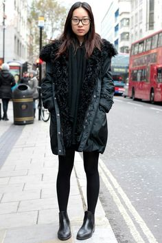 London chelsea boots outfit black