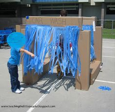 We could do something similar at the next bike rodeo, just for fun.  A dry car wash