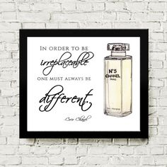 Coco Chanel Quote Art by OliviaHarrisStudio on Etsy, $6.00