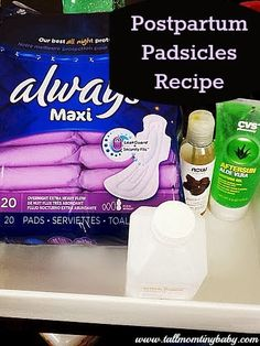 Must Pin if you're pregnant - honestly one of the best things I ever used after giving birth. Postpartum Padsicles! Simple how-to to make these inexpensive and AMAZINGLY comforting pads for after birth and pregnancy.