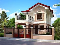 design of two storey house with house front elevation design images single floor for kerala home design photo gallery - Best Home Interior Design Two Story House Design, 2 Storey House Design, Duplex House Design, Simple House Design, Two Storey House, House Design Photos, House Front Design, Philippines House Design, Bungalow Haus Design