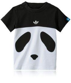 T-shirt med tryck och knappar i halsen, ADIDAS KIDS TEE. Storlek 68-92.