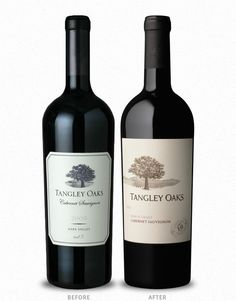 Tangley Oaks Wine Label & Package Design Before & After by CF Napa Brand Design