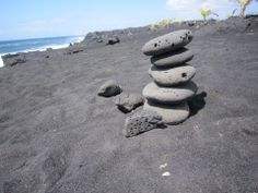 Across from the Kalapana Village Cafe is the trail to Kalapana Black Sand Beach. Don't miss this amazing walk and the beauty of the ocean!