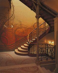 Victor Horta, Hotel Tassel, Brussels, 1893  Art nouveau, Arabesques, ornements végétal,...