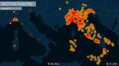 Italy Floods 2014 - Twitter Animated Map made with Cartodb https://vincos.cartodb.com/viz/1e77a334-55f7-11e4-ad0d-0e9d821ea90d/public_map