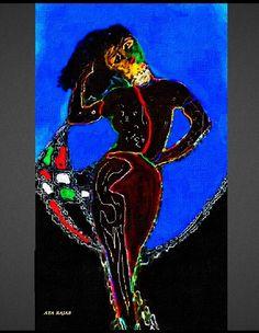 لوحة من اعمال التشكيلية الفلسطينية اية رجب 46