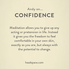 Andy on Confidence