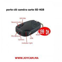 Porte clé caméra avec carte SD 4GB