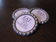 save the date magnets shaped like beer bottle caps