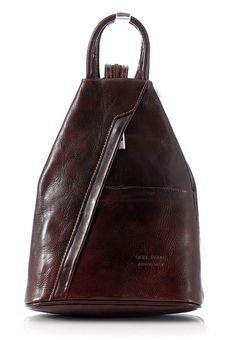 249 CIEMNY BRAZ     VeroStilo Modny plecak damski ciemny brąz MORENA CLASSIC / Plecaki skórzane / Plecaki - Sklep