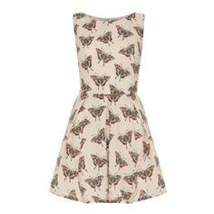 Iska Butterfly and spot print dress- at Debenhams.com