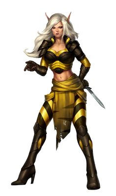 Female Elf Cleric of Calistria - Pathfinder PFRPG DND D&D d20 fantasy