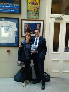 Karen Banton and Greg Combet at book launch in atrium. August2014