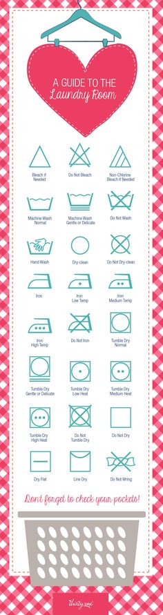 A fun guide to laundry symbols! Thank you!