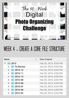 Week 4 – Create a Core File Structure {Digital Photo Organizing Challenge}