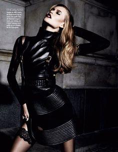 visual optimism; fashion editorials, shows, campaigns & more!: diva noir: behati prinsloo by david roemer for vogue mexico november 2013