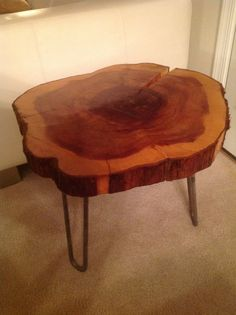 coffee table made of slice logs fruit tree and color epoxy