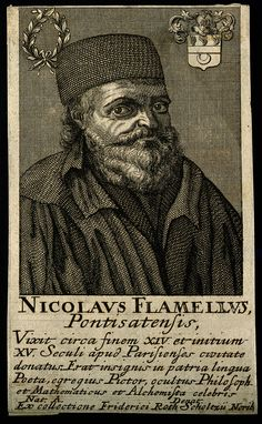 Nicolas Flamel (prob. Pontoise, ca 1330 – Paris, March 22, 1418) was a successful French scribe and manuscript-seller. After his death, Flamel developed a reputation as an alchemist believed to have discovered the Philosopher's Stone and achieved immortality.
