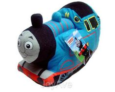 """THOMAS THE TANK ENGINE & FRIENDS THOMAS 16"""" Plush Doll Cuddle Pillow Pal by THOMAS AND FRIENDS. $15.99. Looking for a fun addition to your little train engineer's bedroom decor? This Thomas and Friends Thomas 16"""" Plush will coordinate with Thomas the Tank Engine kids bedding for a dynamic style. A plush design lets this railway character blend in with other Thomas the Train toys and stuffed animals."""