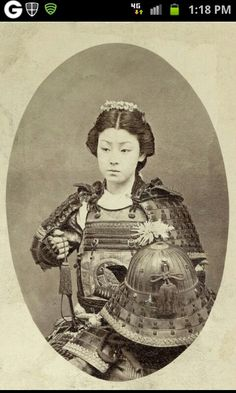 Rare photo of a female Samurai
