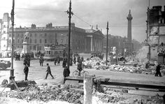 Rubble of Dublin, Sackville Street and the GPO post the 1916 Rising. More than 6,500 compensation claims made by individuals in Dublin, Wexford and Galway now available online.