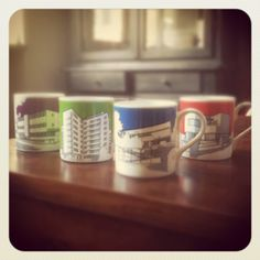 '1930s modernist london homes' mugs, by People Will Always Need Plates