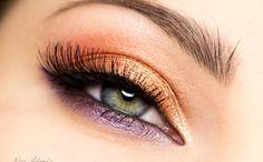 Makijaż: Pomarańcz i fiolet