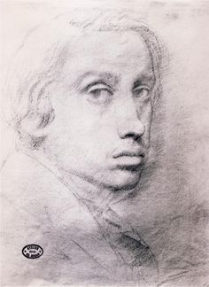 Study for the Self Portrait, 1855  Edgar Degas