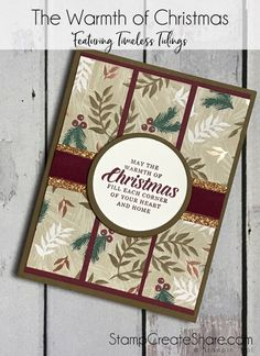 The Timeless Tidings Stamp Set is a beautiful set that from the 2018 Stampin' Up! It has beautiful sentiments for wonderful Christmas Cards Christmas Cards 2018, Simple Christmas Cards, Homemade Christmas Cards, Xmas Cards, Homemade Cards, Holiday Cards, Christmas Crafts, Stampin Up Christmas 2018, Christmas Music