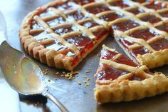 Strawberry Jam Crostata // Karista's Kitchen and Pastry Craft Sweet Pie, Sweet Tarts, Kinds Of Pie, Butterscotch Chips, Pasta, Strawberry Jam, Chip Cookies, Cooking Time, Dessert Recipes