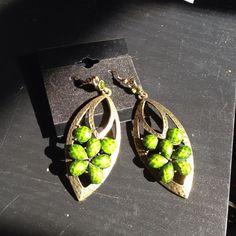 Earrings Green statement piece Jewelry Earrings