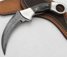 a menacing looking hunting knife