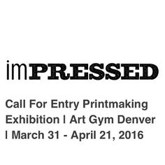 "SUBMISSION DEADLINE: 30 minutes! (give or take)  Submissions have been coming in from #seatoshiningsea.  Art Gym Denver is inviting printmakers in the USA to submit their art to a call for entry for the exhibit Impressed."" Juried by Art Gym Printmaking Director Gregory Santos (@nycgps)  The exhibition running from March 31 - April 21 is part of the Month of Printmaking (@moprintcolorado) in Denver Colorado.  Submission deadline: Feb 27  Link to call for entry in bio!  #printmaking…"