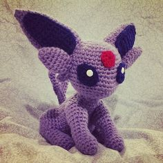 Espeon Crochet Pokemon Amigurumi by SirPurlGrey on Etsy, $36.00