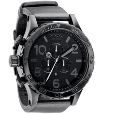 Mens Nixon The 51-30 Chrono Leather Chronograph Watch A124-001