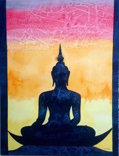 Buddha silhouette by Krishna Kataria