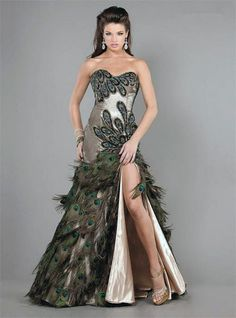 Das Pfau Kleid Abiball 2014