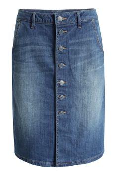 Esprit : jupe en jean à patte de boutonnage à acheter sur la Boutique en ligne