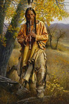 Native American Artists Paintings   Схема вышивки «индеец» - Схемы вышивки ...