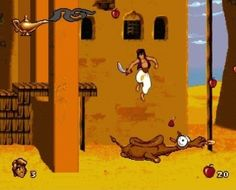 the aladdin video game-- I had for Game Boy in black n white