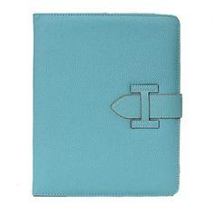 Hermes Calf Leather iPad mini Case Blue