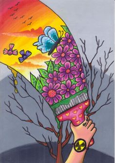 1st place in the 5-8 yr-old category was well awarded to Galuh Edelweiss Sayyidina, our 8-yr-old artist from Indonesia.