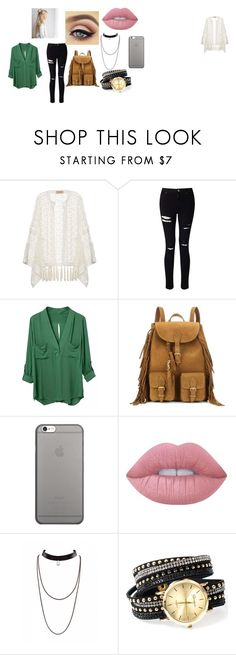 """""""#2"""" by brifines on Polyvore featuring moda, ADRIANA DEGREAS, Miss Selfridge, Yves Saint Laurent, Native Union y Lime Crime"""