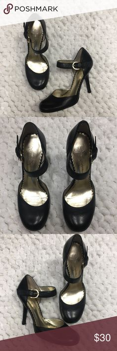 "Jessica Simpson black Mary Jane pumps 7 Jessica Simpson black Mary Jane pumps 7. Like new. Worn once or twice max. So cute. Heel is 5.5"" Jessica Simpson Shoes Heels"