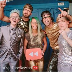 Rhett and Link Good mythical morning Tyler Oakley Jenna marbles Hannah hart Harto YouTube rewind