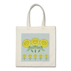 Yellow Daisies Budget Tote Bag