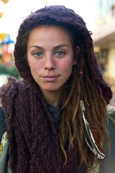 Natural beauty. No make up and Dreads #love